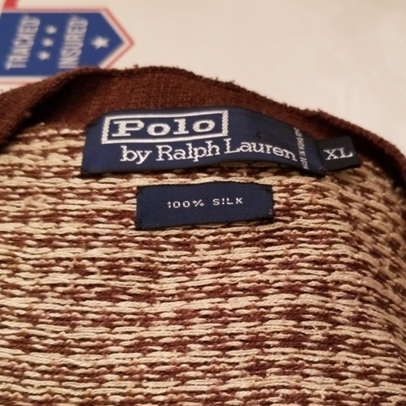 Polo by Ralph Lauren Other - Polo by Ralph LAUREN 100% Silk Cardigan Size XL